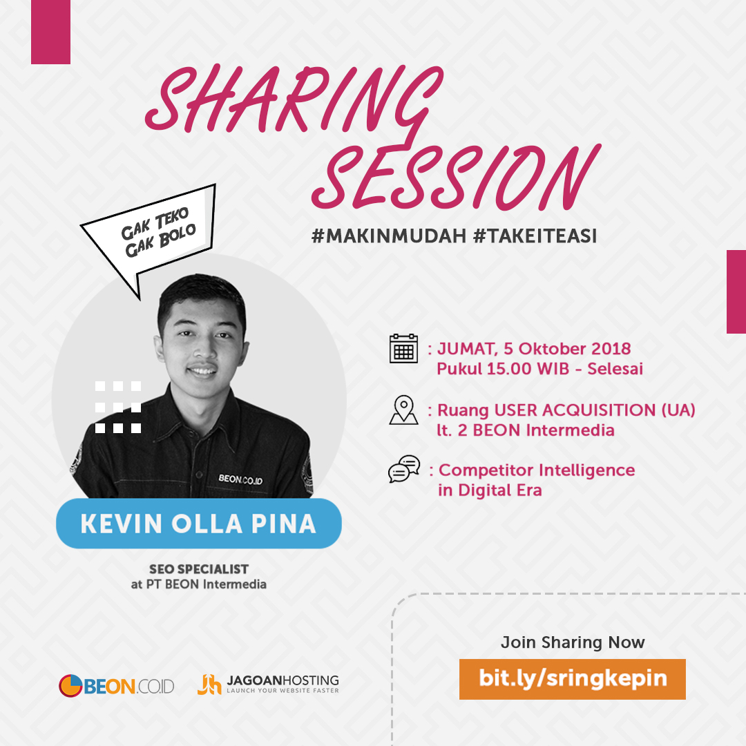 Sharing Session – COMPETITOR INTELLIGENCE IN DIGITAL ERA