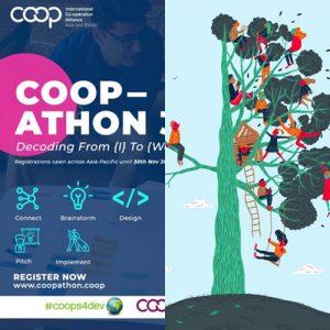 Poster Coopathon 3.0 dan Ilustrasi Growth Mindset