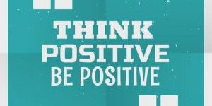 blue-poster-background-with-message-think-positive-be-positive-vector